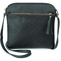 Tircuger Lightweight Medium Crossbody Bag with Tassel and Zipper Pocket Crossbody Purse Bag for Women