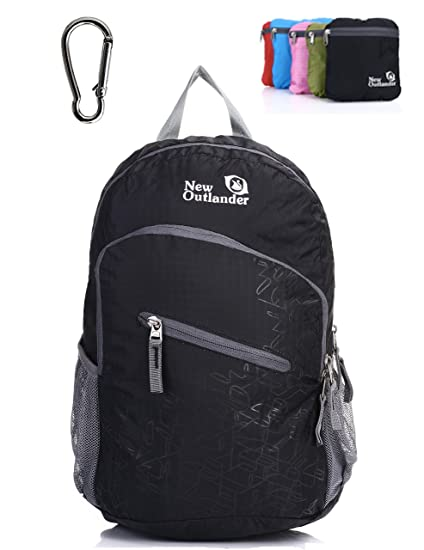 f7d4dd4686f Outlander Packable Handy Lightweight Travel Hiking Backpack Daypack, Black
