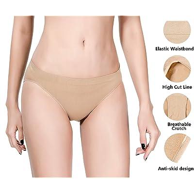 MOLLDAN Pro Dance Ballet Briefs for Women and Girls Seamless Gymnastics Underpants Dancer Beige Bottoms Ballerina Underwear: Clothing