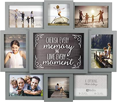 Amazon Com Malden International Designs 8372 08 8 Op Cherish Every Memory Gray