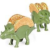 Dino Taco Holder, 2-Pack Dinosaur Taco Holder for Kids, Funny Dinosaur Taco Holder, Cute Taco Holders for Kids, Taco Tuesday Fun Taco Holder, Green Taco Holder, Tacosaurus Taco Holder