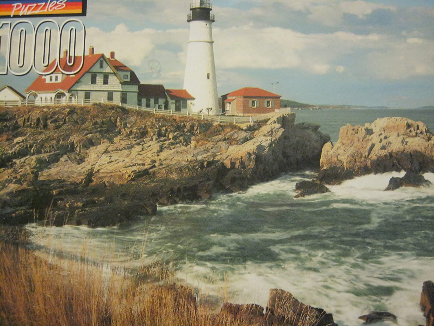 The Edge Portland Head Lighthouse 1000 Piece Puzzle by Great American Puzzle Factory