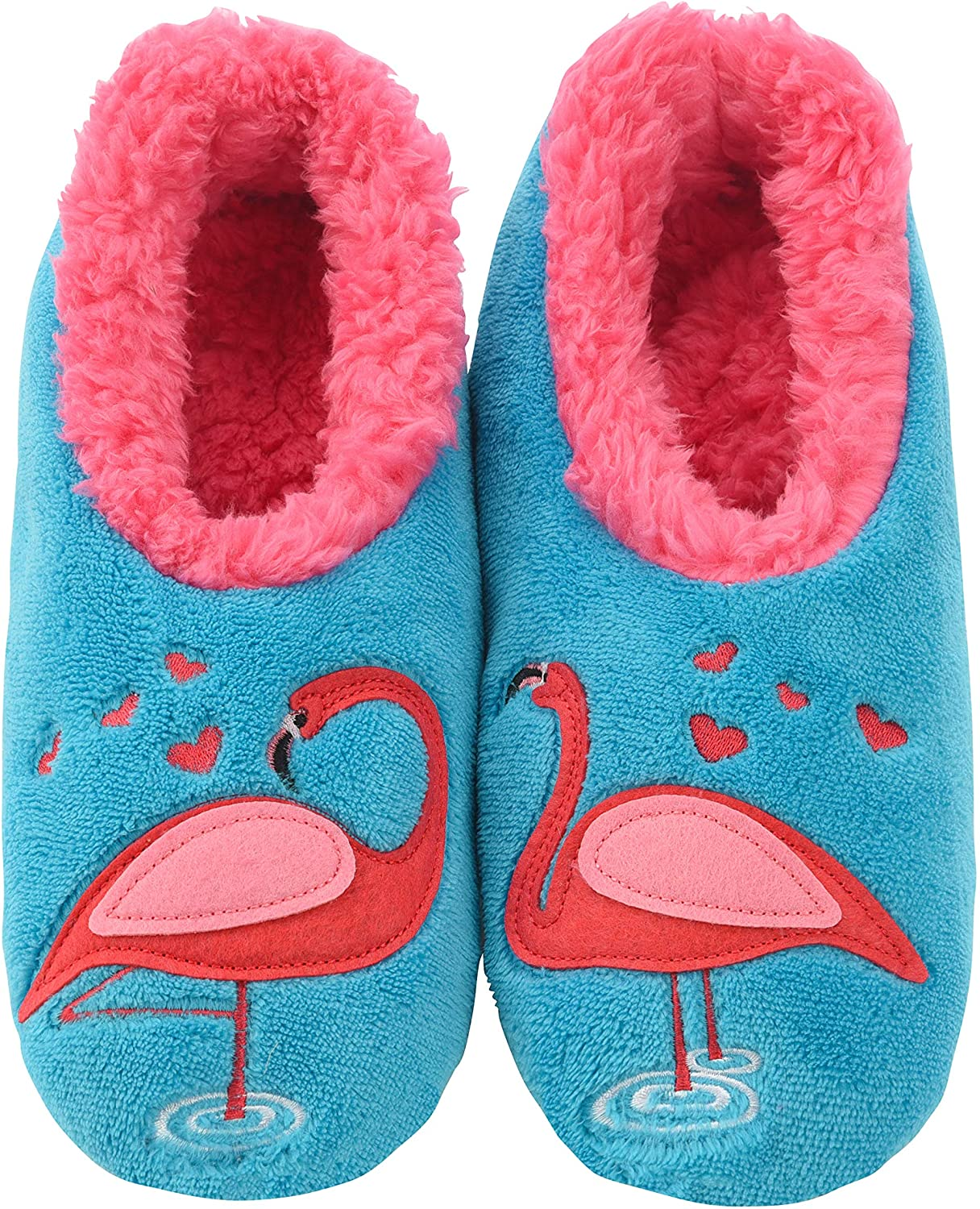 House Slippers Flamingo Snoozies Pairables Womens Slippers