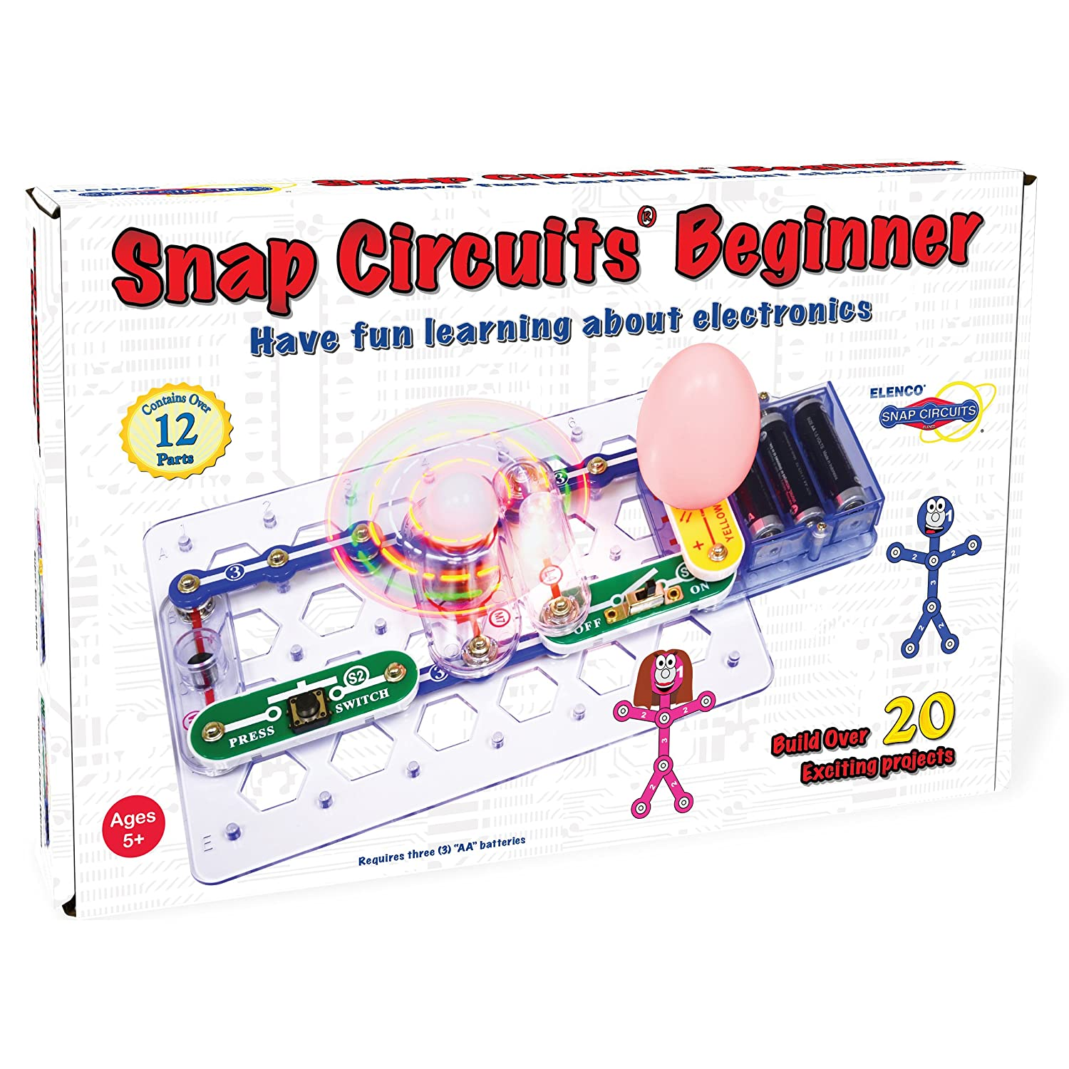 Buy Snap Circuits Beginner Electronics Exploration Kit Over 20 The Objective Of Circuit Is To Build An Electronic Dice Based On Stem Projects 4 Color Project Manual 12 Modules Unlimited Fun Online At Low