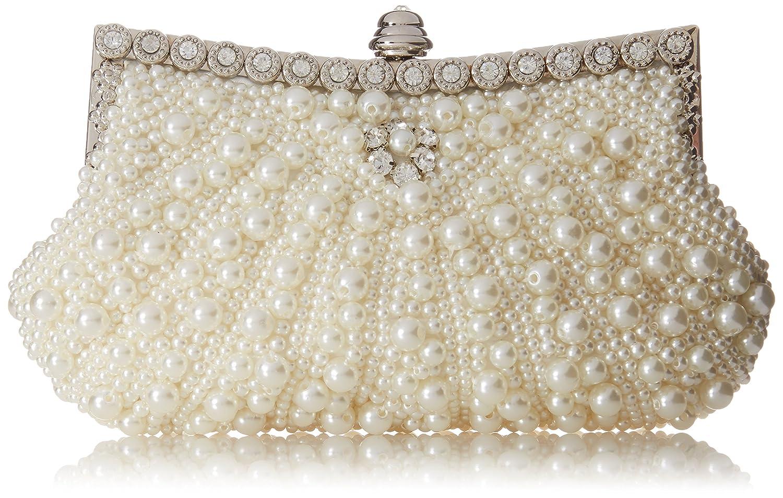 df6631f0ef2 Amazon.com  Fawziya Pearl Clutch Purse For Wedding Beaded Crystal Handbag-Black   Shoes