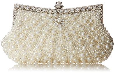 1ec76215f1 Amazon.com: Fawziya Pearl Clutch Purse For Wedding Beaded Crystal ...