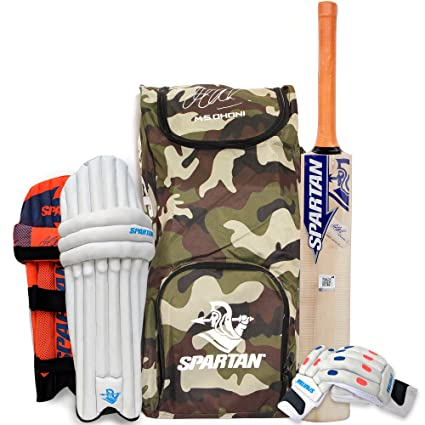 2f2d244829d Buy Spartan MS Dhoni Kashmir-Willow Cricket Combo Kit Online at Low ...