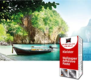 GREAT ART Photo Wallpaper Fisher Boat Decoration 132.3x93.7in / 336x238cm – Tropical Bay Rainforest Summer Sun Holiday Longtail Thailand Boat Mural – 8 Pieces Includes Paste