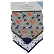 Buttons and Stitches Boys Bandana Bib, Fox and Arrow Print, Multi, 2 Count
