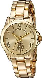 U.S. Polo Assn. Women's Analog-Quartz Watch with Alloy Strap, Gold, 7 (Model: USC40043)