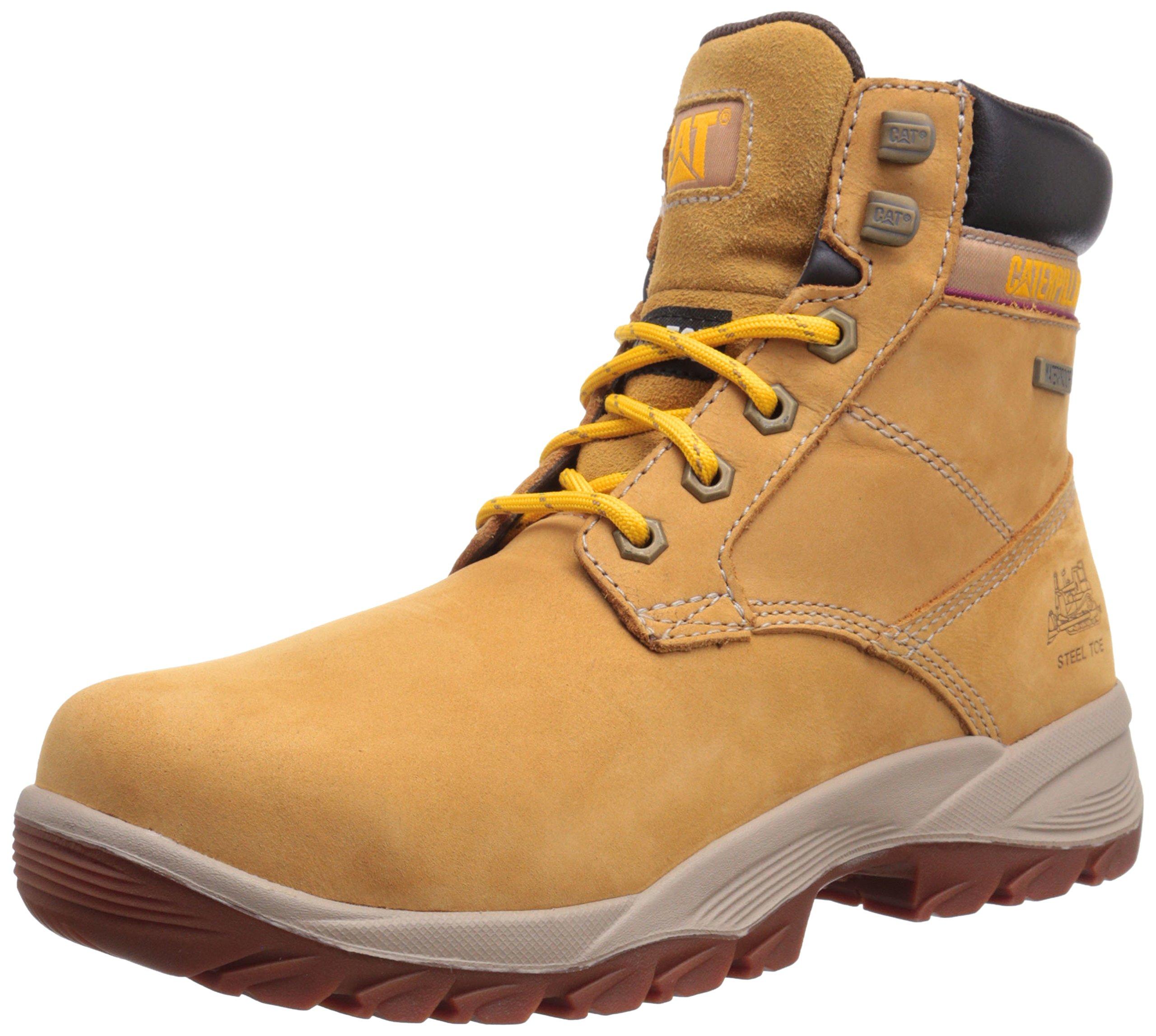 Caterpillar Women's Dryverse 6 Inch Waterproof Steel Toe Work Boot, Honey Reset, 9 M US