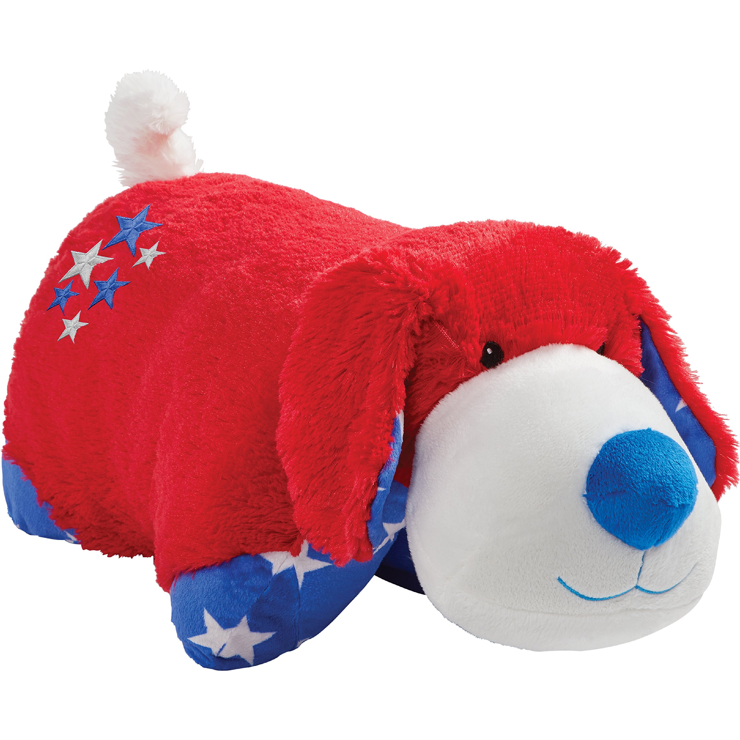 Pillow Pets Americana Red Puppy, Stuffed Animal Plush Toy 18'', Sam