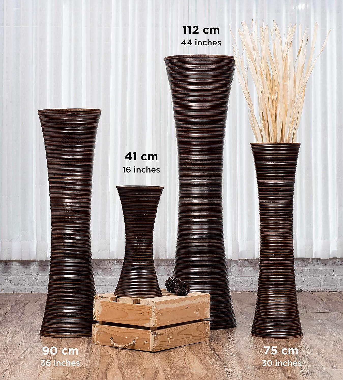 Noir Vase A Poser Au Sol pour Branches Décoratives Centre De Table