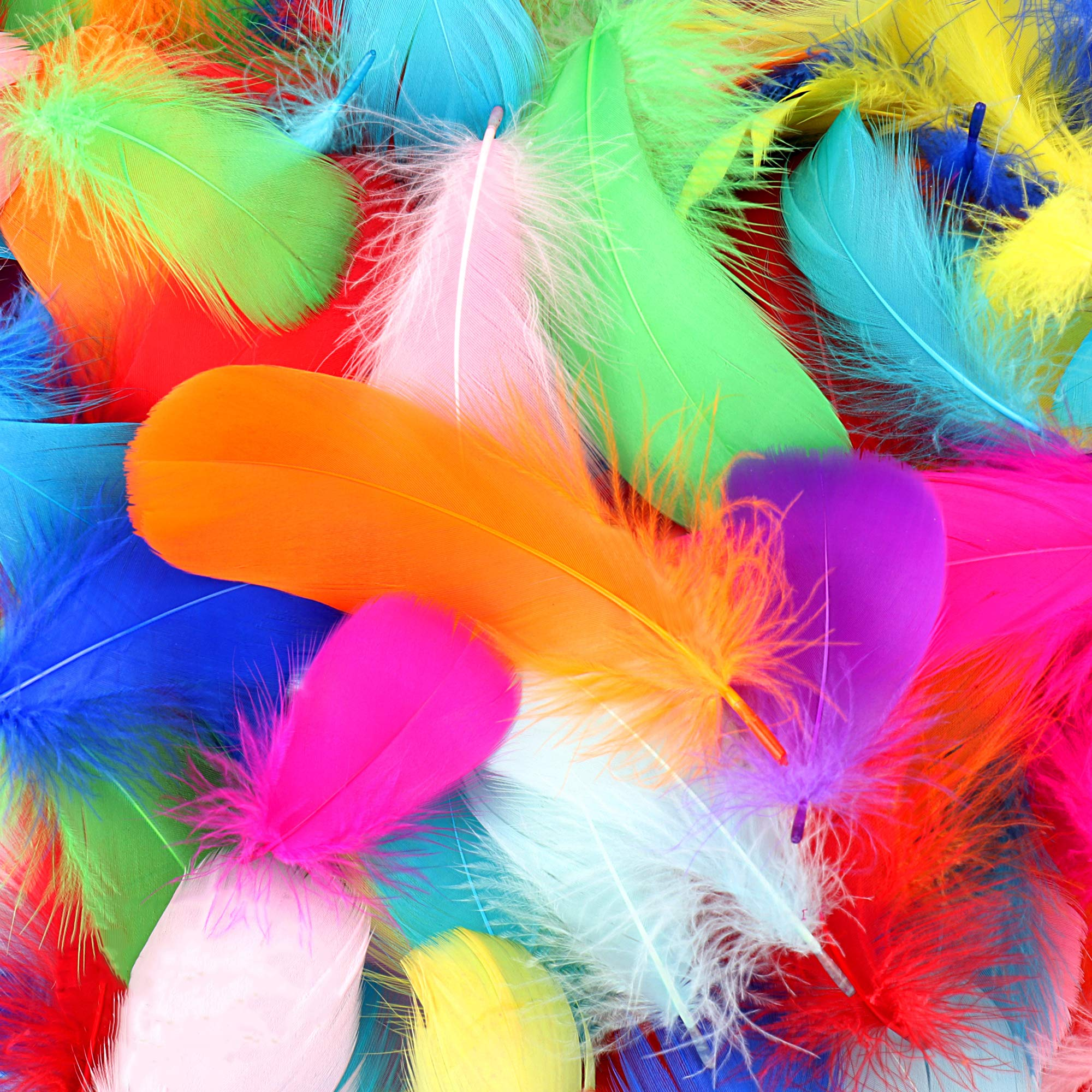 10 Colors Colorful Feathers for DIY Craft Wedding Home Party Decorations 300pcs 3-5 Inches 8-12cm