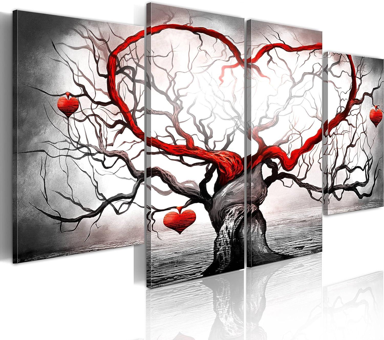 murando - Cuadro en Lienzo - Impresión de 4 Piezas Material Tejido no Tejido Impresión Artística Imagen Gráfica Decoracion de Pared - Amor 5717