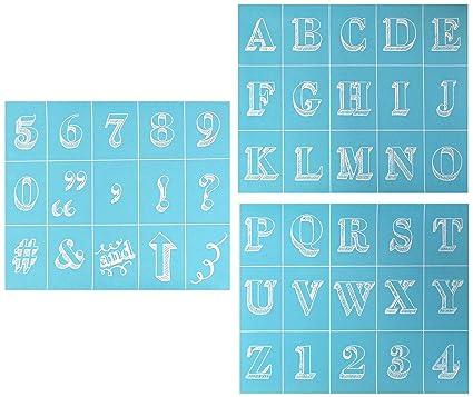 Martha Stewart Crafts Chalkboard Silkscreens 9 By 75 Inch 33549 Bodoni Alphabet