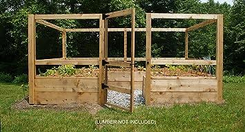 Amazoncom Deer proof Just Add Lumber Vegetable Garden Kit 8