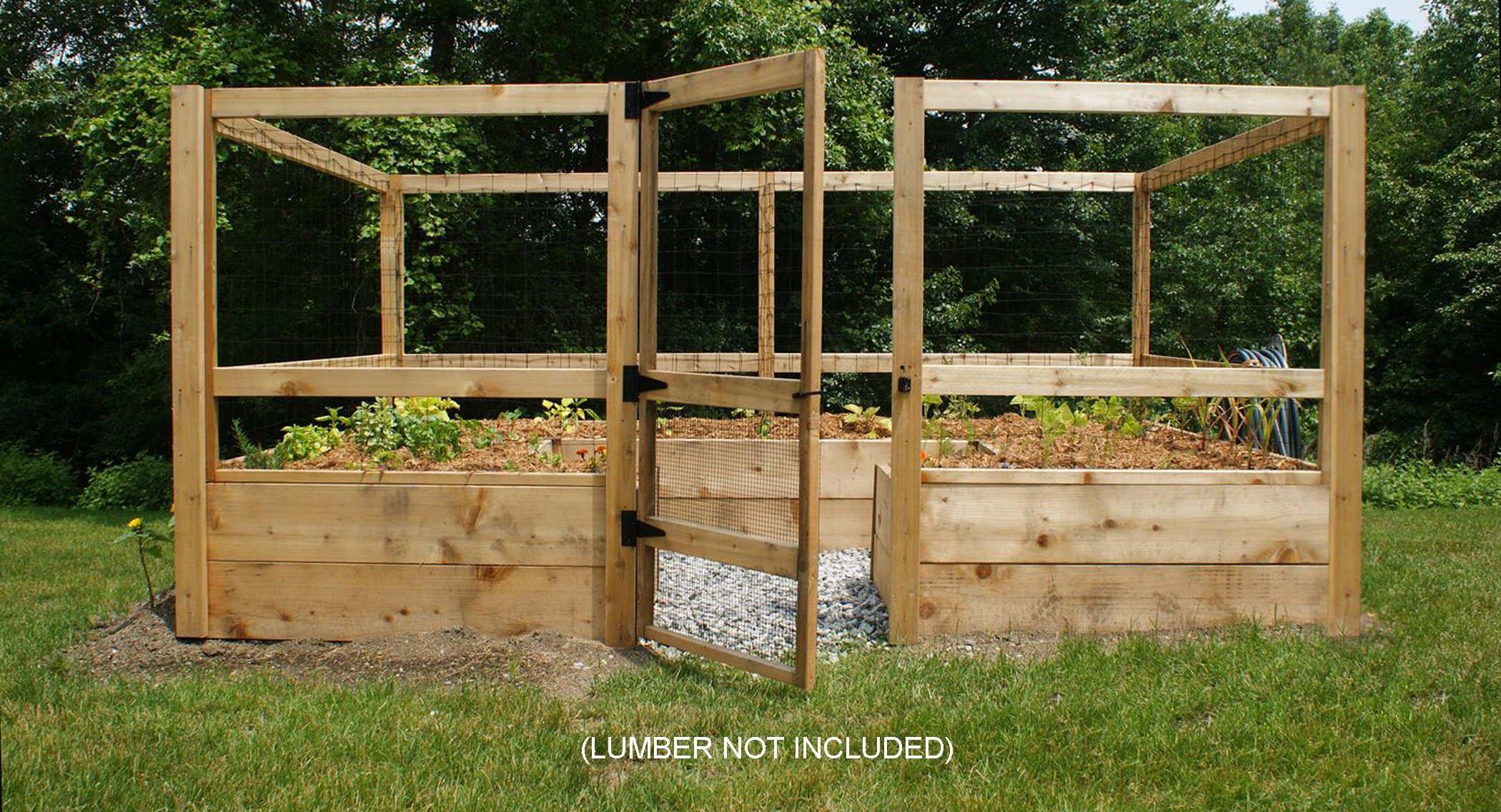 Deer-proof Just Add Lumber Vegetable Garden Kit - 8'x12' by Gardens To Gro
