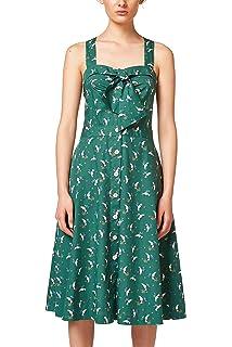 EDC by Esprit 058cc1e023, Vestido para Mujer, Multicolor (Green 310), Small