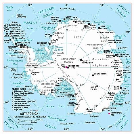 Amazon.com : Cool Owl Maps Antarctica 24\