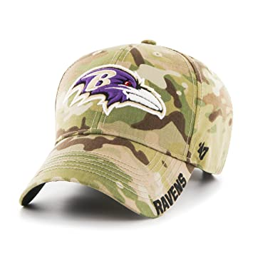 79de04c48703cd 47 Brand NFL Baltimore Ravens Myers MVP Hat, One Size, Multicam ...