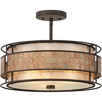 round mica semi flush ceiling lighting light copper newport 2 outdoor brushed nickel fixture lights amazon contemporary fixtures