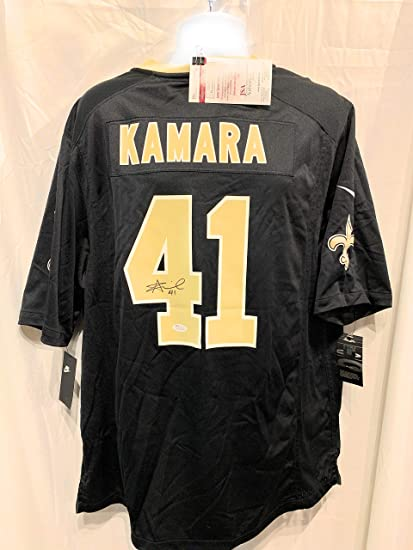 d313106b Alvin Kamara New Orleans Saints Signed Autograph Black Nike Game Jersey JSA  Witnessed Certified