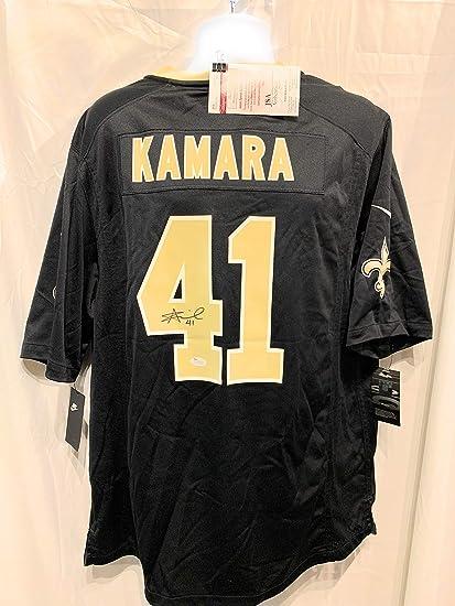 new arrival 3cf96 fc504 Alvin Kamara New Orleans Saints Signed Autograph Black Nike ...