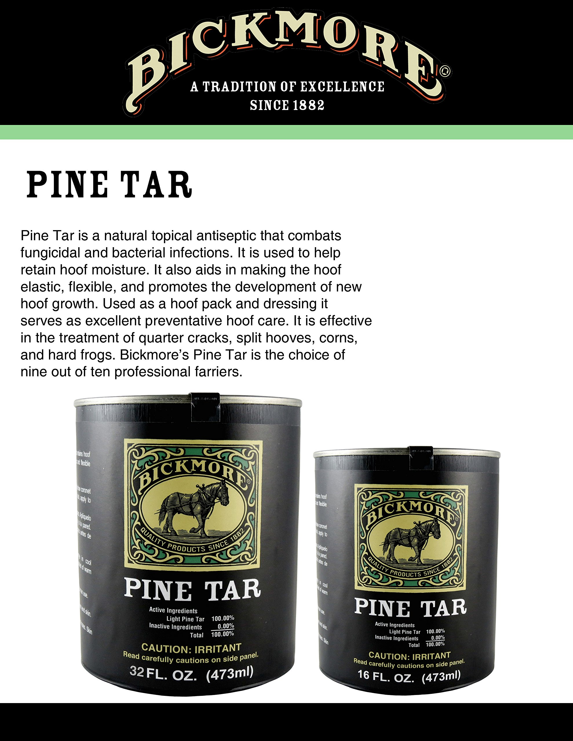 Bickmore Pine Tar 16oz - Hoof Care Formula For Horses by Bickmore (Image #3)