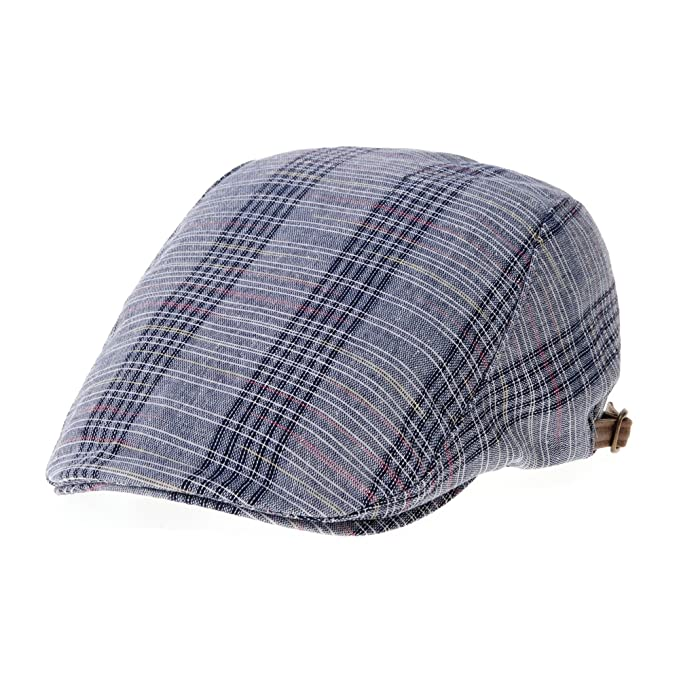 WITHMOONS Coppola Cappello Irish Gatsby Tartan Checks Plaid Pattern Newsboy  Hat Ivy Cap LD3734 (Navy)  Amazon.it  Abbigliamento 1a3c992eb743
