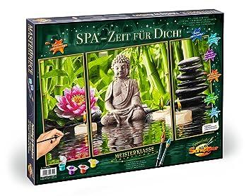 Wellness Oase 50x80 Malen nach Zahlen Schipper 609260681 Orchideen günstig kaufen Bastel- & Kreativ-Bedarf für Kinder