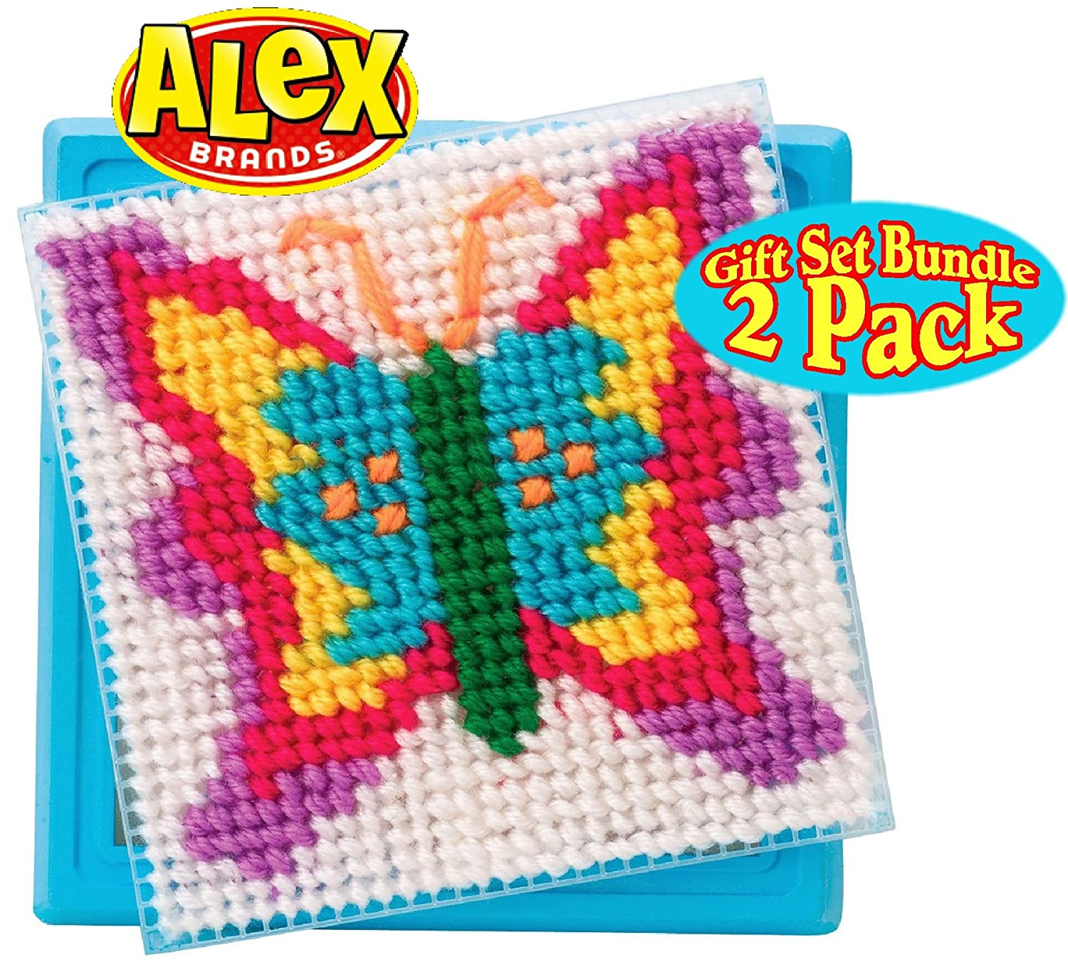 Amazoncom Alex Toys Crafts Simply Needlepoint Flower & Butterfly Gift