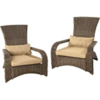 Patioflare Premium Wicker Muskoka Chair, 2 Pack