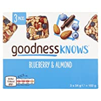 goodnessKNOWS Blueberry and Almond Multipack Snack, 102 g