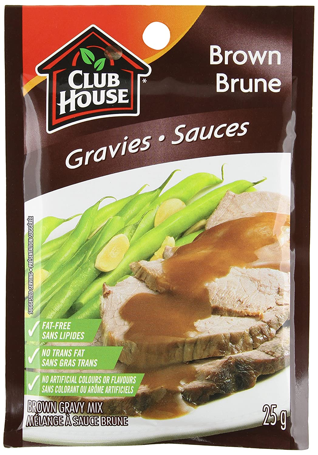 Club House, Dry SauceSeasoningMarinade Mix, Brown Gravy, 25g