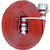 JGB Enterprises A008-0321-1651 Eagle Red PVC Discharge Hose, 2' x 50', Aluminum Type C and E Cam Locks, 150 psi Working…