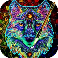 ColorWolf - Coloring Book for Adults   Animals   Mandalas   Easy Color Pages Games