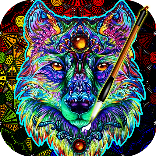 (ColorWolf - Coloring Book for Adults | Animals | Mandalas | Easy Color Pages Games)