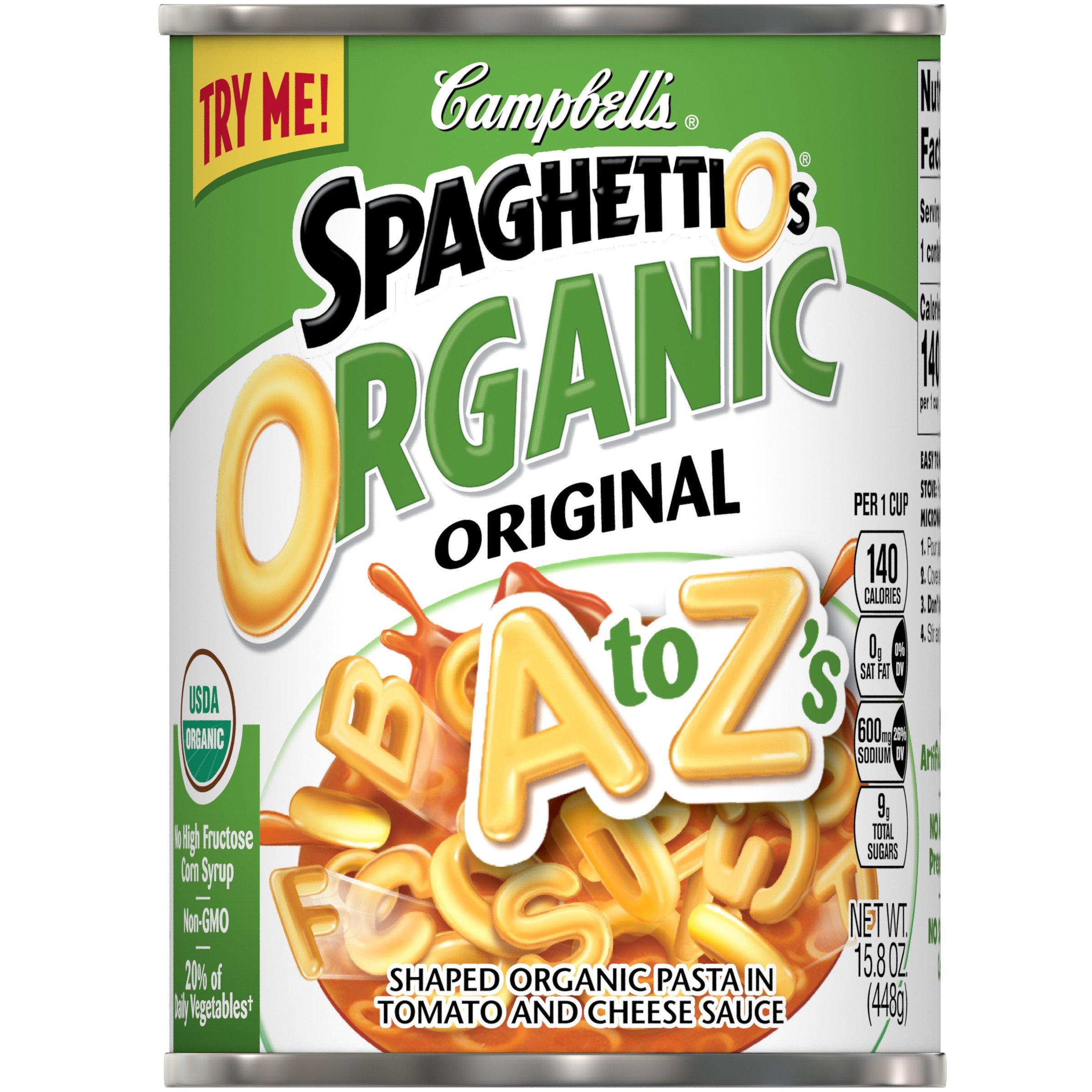 SpaghettiOs Organic A to Z's, 15.8 oz. by SpaghettiOs