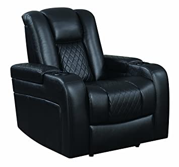 Astonishing Coaster Recliner Chair Black Gmtry Best Dining Table And Chair Ideas Images Gmtryco