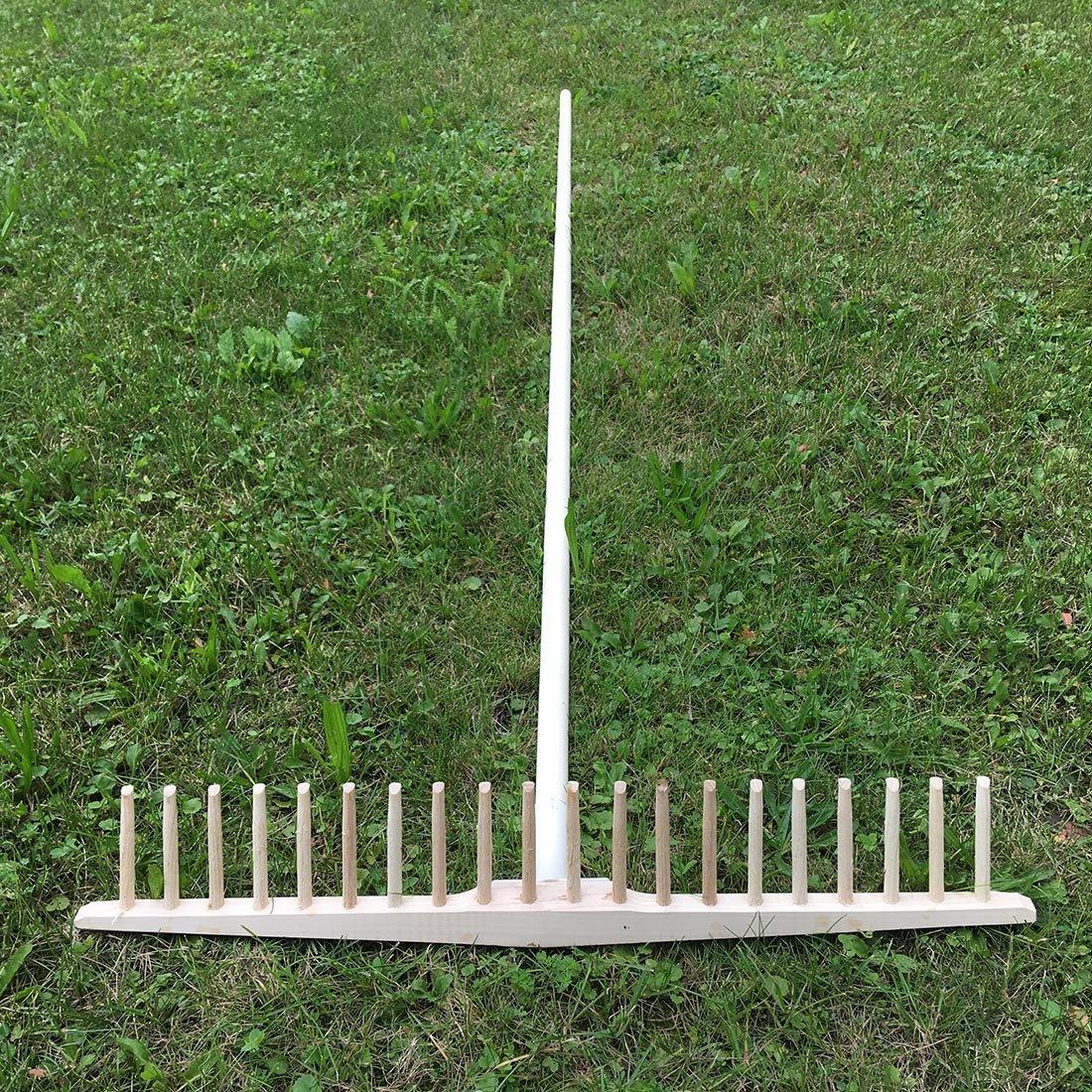 Rechenstiel aus Lindenholz 2,7 cm Durchmesser 180 cm 4betterdays.com NATURlich leben kompatibel mit Allen Heurrechen und Drahtb/ügelrechen