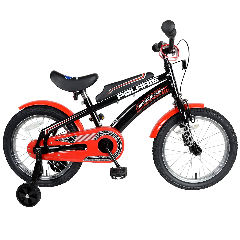Polaris Edge LX160 Kid's Bike, 16 inch tires, 11 inch Frame, Boy's Bike, Black/Red by Polaris B00KE3YOQE