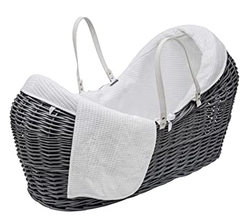 meilleure sélection ba0f7 b5b1a White Waffle Noah Pod Bedding (Basket Not Included): Amazon ...
