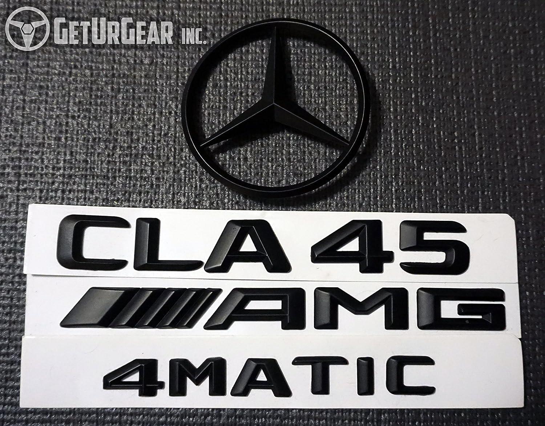 Gloss, CLA45 AMG A Class Mercedes Benz Black Rear Badges CLA45 A45 AMG 4MATIC C117