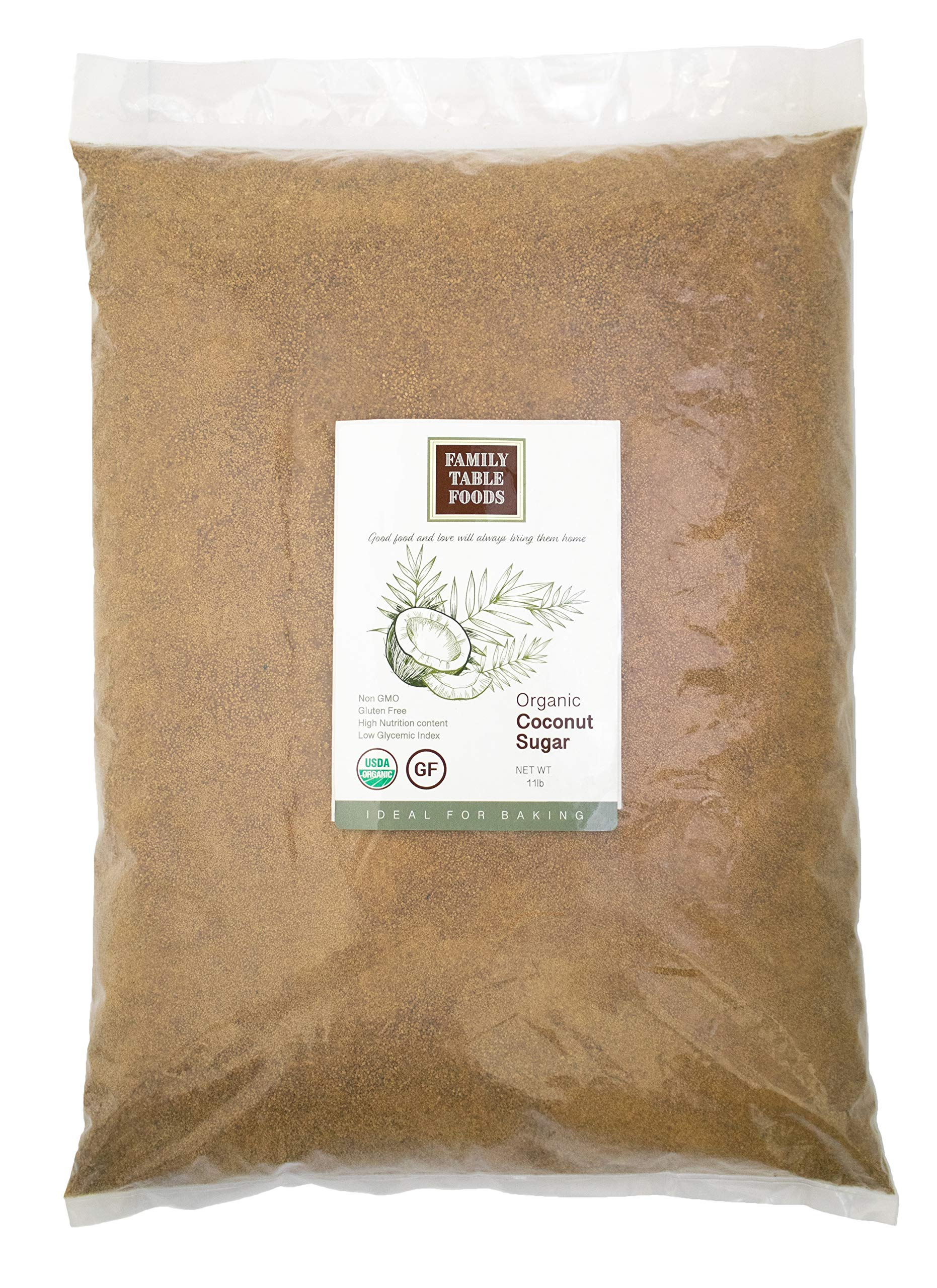 Family Table Foods Organic Coconut Sugar, 11 Pound Bag