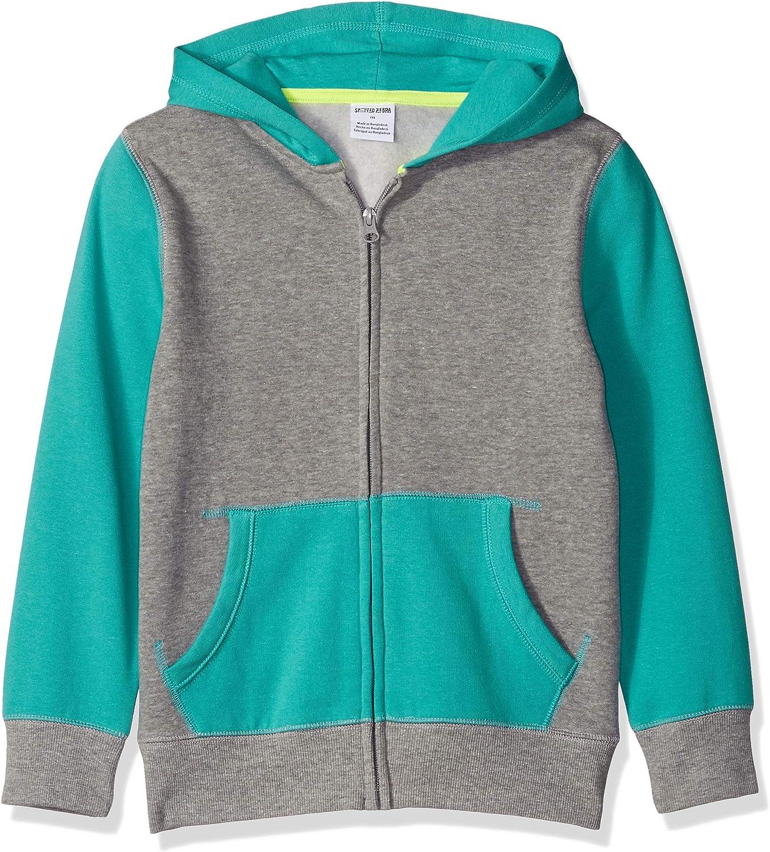 Brand - Spotted Zebra Boys Fleece Long-Sleeve Zip-Up Sweatshirt Hoodies: Clothing