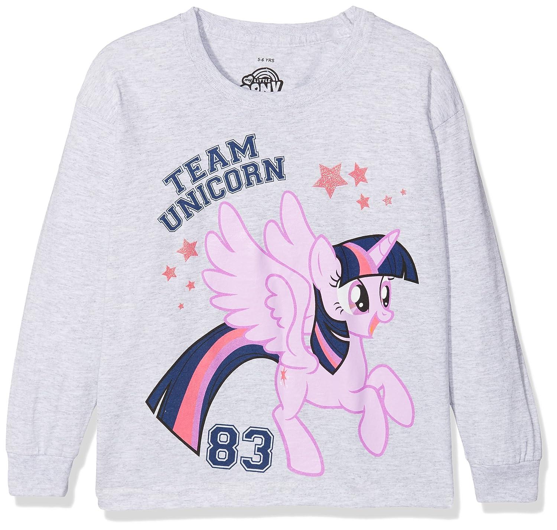 Hasbro Team Unicorn, Maglietta a Maniche Lunghe Bambina My Little Pony Team Unicorn (Sport Grey Spo) 5-6 Anni RBGLT123