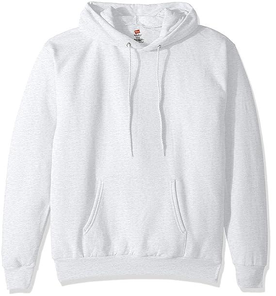 Hanes Men's Pullover EcoSmart Fleece Hooded Sweatshirt, ash Small