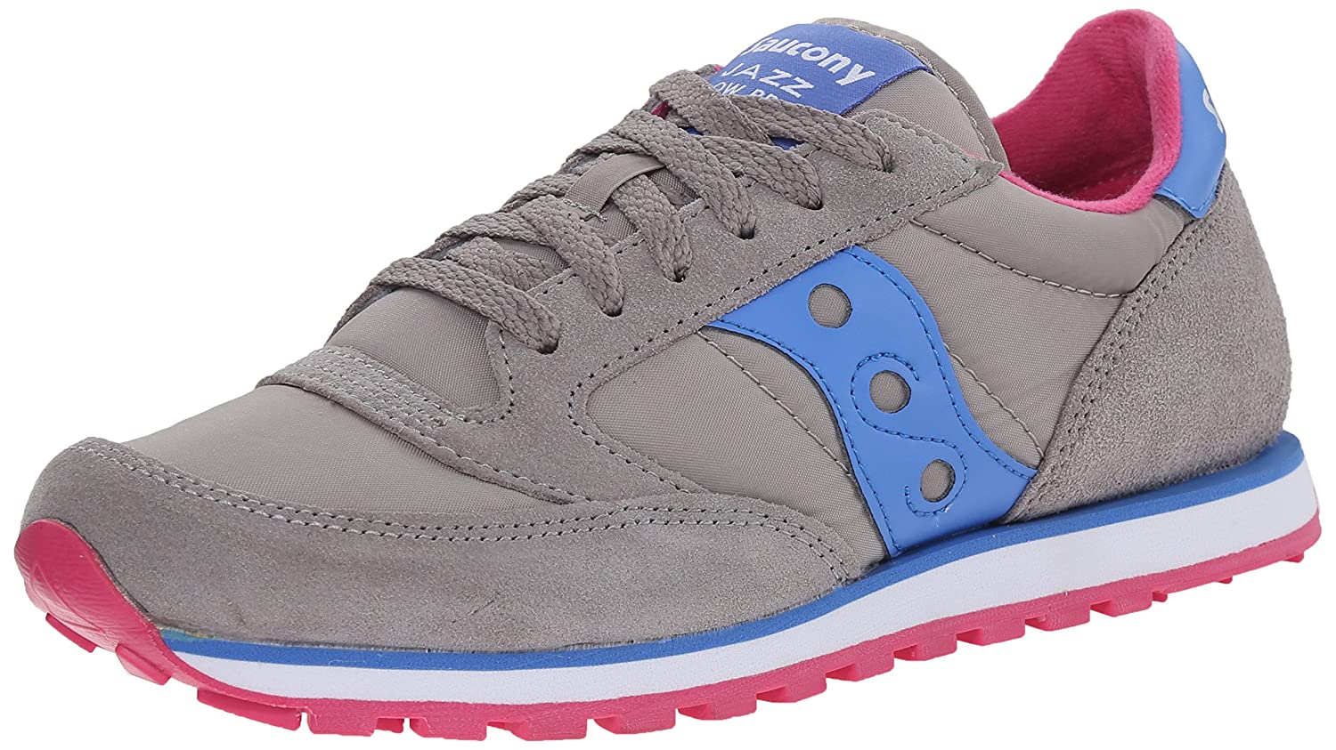 Saucony Women's Jazz Lowpro Classic Retro Running Shoe, Grey
