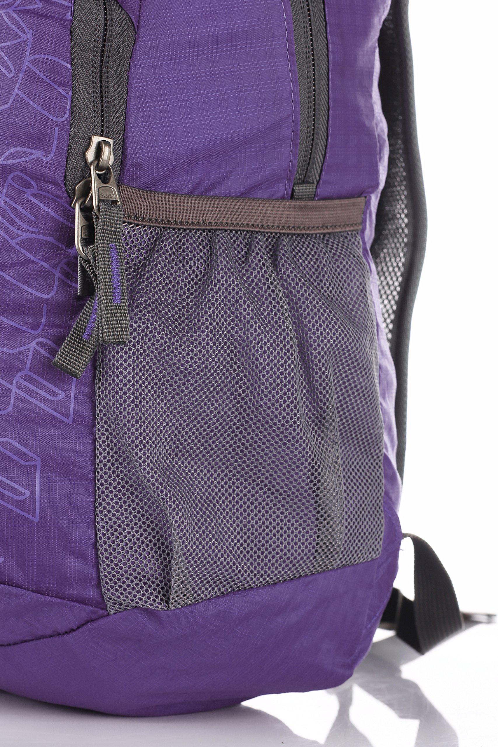 Outlander Packable Handy Lightweight Travel Hiking Backpack Daypack-Purple-L by Outlander (Image #6)